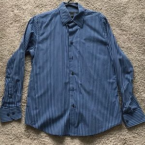 Men's express dark blue button down Size medium